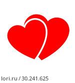 Купить «Two hearts. Web icon», иллюстрация № 30241625 (c) Сергей Лаврентьев / Фотобанк Лори