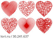 Купить «A set of Hearts for Valentine Day», иллюстрация № 30241637 (c) Сергей Лаврентьев / Фотобанк Лори