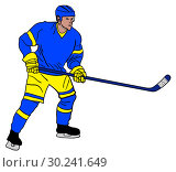 Купить «Ice hockey player», иллюстрация № 30241649 (c) Сергей Лаврентьев / Фотобанк Лори