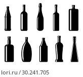 Купить «Collection of bottles of different shapes», иллюстрация № 30241705 (c) Сергей Лаврентьев / Фотобанк Лори