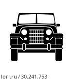 Купить «Army off-road car», иллюстрация № 30241753 (c) Сергей Лаврентьев / Фотобанк Лори