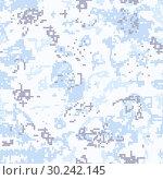Купить «Seamless snow camouflage of pixel pattern», иллюстрация № 30242145 (c) Сергей Лаврентьев / Фотобанк Лори