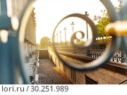Купить «Fence in the garden near Louvre Palace , Paris», фото № 30251989, снято 13 августа 2016 г. (c) Сергей Новиков / Фотобанк Лори