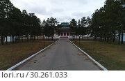 Купить «Забайкалье. Видео с дрона. Буддистский дацан в Агинском.», видеоролик № 30261033, снято 7 октября 2018 г. (c) kinocopter / Фотобанк Лори