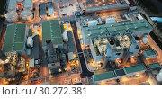 Купить «Aerial night view of power plant and waste treatment plant in Barcelona», видеоролик № 30272381, снято 28 сентября 2018 г. (c) Яков Филимонов / Фотобанк Лори
