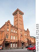 Купить «Пожарная станция. Хельсинки. Финляндия», фото № 30272633, снято 20 сентября 2018 г. (c) E. O. / Фотобанк Лори