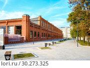 Купить «Москва, улица 2-я Миусская, ставшая пешеходной после реконструкции», фото № 30273325, снято 2 сентября 2018 г. (c) glokaya_kuzdra / Фотобанк Лори