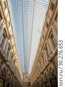Купить «Интерьер Королевской галереи Святого Юбера в центре Брюсселя, Бельгия», фото № 30276653, снято 4 июля 2018 г. (c) V.Ivantsov / Фотобанк Лори