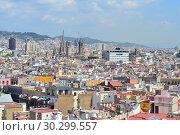 Купить «Top-view of Barcelona», фото № 30299557, снято 5 июня 2016 г. (c) Татьяна Савватеева / Фотобанк Лори