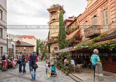 Купить «Theater Rezo Gabriadze in Tbilisi», фото № 30299605, снято 22 сентября 2018 г. (c) Юлия Бабкина / Фотобанк Лори