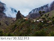Купить «Fabulous Masca mountain gorge the most visited tourist attraction on Tenerife», фото № 30322913, снято 13 сентября 2015 г. (c) Ирина Мойсеева / Фотобанк Лори