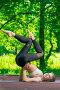 Купить «active and beautiful girl goes in for sports in the summer park», фото № 30324509, снято 12 июля 2018 г. (c) Константин Лабунский / Фотобанк Лори