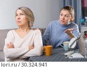 Купить «Adult daughter blames her mom», фото № 30324941, снято 22 июля 2019 г. (c) Яков Филимонов / Фотобанк Лори