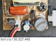 Купить «Electronic board with electronic components», фото № 30327445, снято 15 февраля 2019 г. (c) Владимир Белобаба / Фотобанк Лори