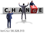 Купить «Businessman in change and chance concept», фото № 30328313, снято 13 декабря 2019 г. (c) Elnur / Фотобанк Лори