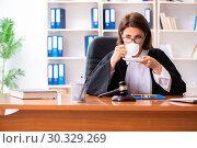 Купить «Middle-aged female doctor working in courthouse», фото № 30329269, снято 4 декабря 2018 г. (c) Elnur / Фотобанк Лори