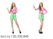 Купить «Beautiful woman in green skirt», фото № 30330845, снято 19 марта 2019 г. (c) Elnur / Фотобанк Лори