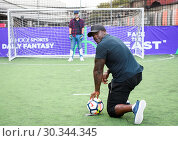 Купить «Adebayo 'The Beast' Akinfenwa was appearing at the Yahoo Sport Daily Fantasy Deadline Day Dugout event at Boxpark, Shoreditch. Featuring: Adebayo Akinfenwa...», фото № 30344345, снято 31 августа 2017 г. (c) age Fotostock / Фотобанк Лори