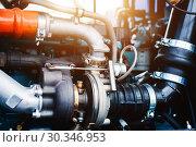 Купить «Internal combustion engine automotive», фото № 30346953, снято 6 июня 2018 г. (c) Андрей Радченко / Фотобанк Лори