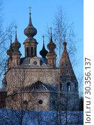Купить «Archangel Michael Cathedral in Yuriev-Polsky, Russia», фото № 30356137, снято 7 января 2017 г. (c) Яна Королёва / Фотобанк Лори