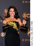 Купить «The 69th Emmy Awards - Press Room At The Microsoft Theater In Los Angeles, California Featuring: Julia Louis-Dreyfus Where: Los Angeles, California, United...», фото № 30357745, снято 18 сентября 2017 г. (c) age Fotostock / Фотобанк Лори