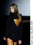 Купить «Madrid Fashion Week - Malne - Catwalk Featuring: model Where: Madrid, Spain When: 16 Sep 2017 Credit: Oscar Gonzalez/WENN.com», фото № 30361797, снято 16 сентября 2017 г. (c) age Fotostock / Фотобанк Лори