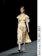 Купить «Madrid Fashion Week - Menchen Tomas - Catwalk Featuring: model Where: Madrid, Spain When: 16 Sep 2017 Credit: Oscar Gonzalez/WENN.com», фото № 30361897, снято 16 сентября 2017 г. (c) age Fotostock / Фотобанк Лори