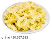 Купить «Tortelloni with ricotta cheese and spinach», фото № 30367593, снято 22 апреля 2019 г. (c) Яков Филимонов / Фотобанк Лори