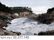 Spain, Mallorca - Cala de sa Comuna bay on the southwest coast (2016 год). Редакционное фото, агентство Caro Photoagency / Фотобанк Лори