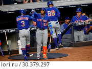 Купить «The New York Mets take on The New York Yankees during game one of the 2017 Subway Series at Yankee Stadium Featuring: Curtis Granderson, Yoenis Cespedes...», фото № 30379297, снято 14 августа 2017 г. (c) age Fotostock / Фотобанк Лори