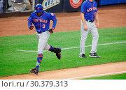 Купить «The New York Mets take on The New York Yankees during game one of the 2017 Subway Series at Yankee Stadium Featuring: Curtis Granderson Where: Bronx, New...», фото № 30379313, снято 14 августа 2017 г. (c) age Fotostock / Фотобанк Лори