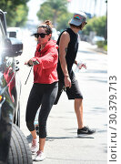 Ashley Tisdale and her husband Christopher French after a workout (2017 год). Редакционное фото, фотограф WENN.com / age Fotostock / Фотобанк Лори
