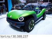 Купить «Volkswagen ID Beach Buggy», фото № 30388237, снято 10 марта 2019 г. (c) Art Konovalov / Фотобанк Лори