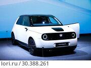 Купить «Honda e Prototype», фото № 30388261, снято 10 марта 2019 г. (c) Art Konovalov / Фотобанк Лори