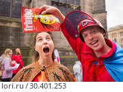 Купить «Edinburgh Fringe Festival - Mr Danger's Spectacular 70 Year Itch - Photocall To celebrate 70 years of the fringe, World Renowned Daredevil Stuntman Douglas...», фото № 30401253, снято 4 августа 2017 г. (c) age Fotostock / Фотобанк Лори