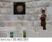 Купить «The Prince of Wales, accompanied by The Duke and Duchess of Cambridge, The King and Queen of the Belgians attend a memorial service at the Commonwealth...», фото № 30403581, снято 31 июля 2017 г. (c) age Fotostock / Фотобанк Лори
