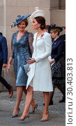 Купить «The Duke and Duchess of Cambridge, accompanied by the the King and Queen of Belgium, attend the Last Post Ceremony at the Menin Gate during Passchendaele...», фото № 30403813, снято 30 июля 2017 г. (c) age Fotostock / Фотобанк Лори