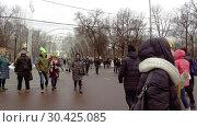 Купить «Celebration of St. Patrick's Day in Moscow Park Sokolniki.», видеоролик № 30425085, снято 16 марта 2019 г. (c) Андрей Радченко / Фотобанк Лори