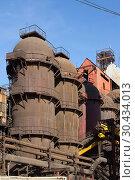 """Купить «JSC """"Satkinsky iron foundry"""". Old factory in Satka», фото № 30434013, снято 18 октября 2012 г. (c) Акиньшин Владимир / Фотобанк Лори"""