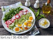 healthy low calories spring salad, close up. Стоковое фото, фотограф Oksana Zh / Фотобанк Лори
