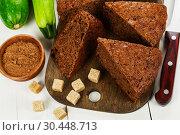 Купить «Chocolate cake with zucchini», фото № 30448713, снято 26 октября 2018 г. (c) Надежда Мишкова / Фотобанк Лори