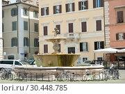 Фонтан на площади Фарнезе. Рим. Италия (2018 год). Редакционное фото, фотограф E. O. / Фотобанк Лори