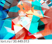 Abstract colorful chaotic polygonal pattern. Стоковая иллюстрация, иллюстратор EugeneSergeev / Фотобанк Лори
