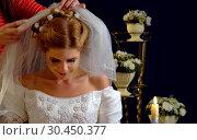 Купить «Atelier per bespoke tailoring bridal gown», фото № 30450377, снято 31 марта 2020 г. (c) Gennadiy Poznyakov / Фотобанк Лори