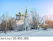 Купить «Успенская церковь в Нижнем Новгороде Assumption Church in Nizhny Novgorod», фото № 30450389, снято 6 января 2019 г. (c) Baturina Yuliya / Фотобанк Лори