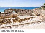 Купить «View of Roman amphitheater in Tarragona», фото № 30451137, снято 29 июня 2013 г. (c) Papoyan Irina / Фотобанк Лори