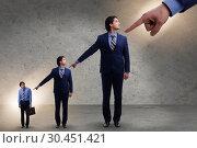 Купить «Businessmen blaming each other for failures», фото № 30451421, снято 18 июля 2019 г. (c) Elnur / Фотобанк Лори