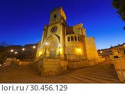 Купить «Wide angle shot of San Juan de Albacete in dusk», фото № 30456129, снято 8 декабря 2014 г. (c) Яков Филимонов / Фотобанк Лори
