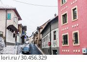Houses in Sarajevo, Bosnia and Herzegovina (2018 год). Редакционное фото, фотограф Николай Коржов / Фотобанк Лори