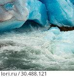 Купить «Nigardsbreen Glacier melting, Norway», фото № 30488121, снято 17 июля 2013 г. (c) Юрий Брыкайло / Фотобанк Лори